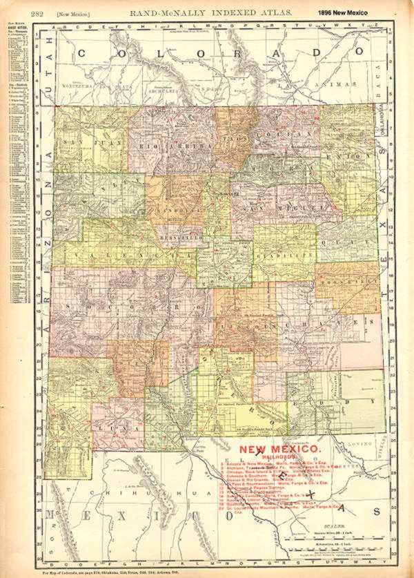 1896 Map of New Mexico